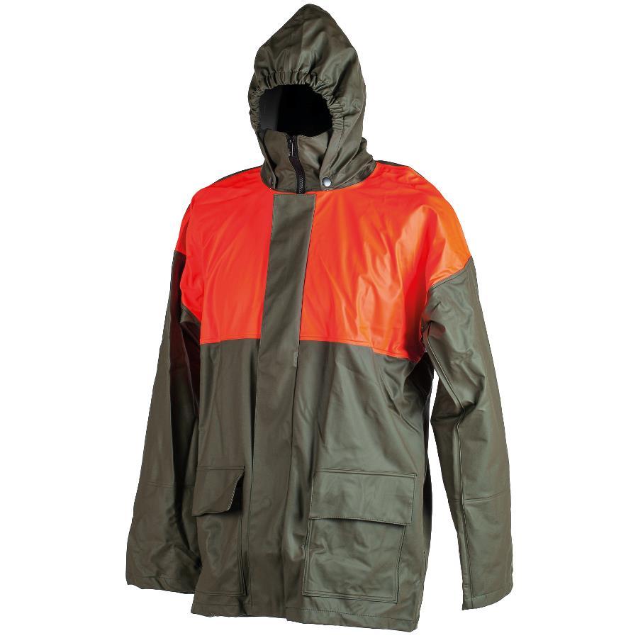 gree orange waterproof coat